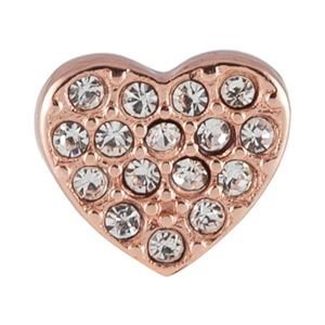 Picture of Rose Gold Crystal Heart Charm